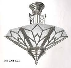 art deco manhattan close ceiling chandelier 366 zn ccl