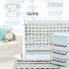 grey and white crib bedding decorative baby sets chevron 3 piece set in aqua 1 blue elephant