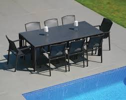 westminster madison 8 seat rectangular set in charcoal pebble