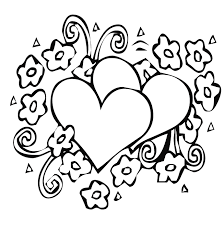 Small Picture Heart And Flower Coloring Pages Flower Coloring Page