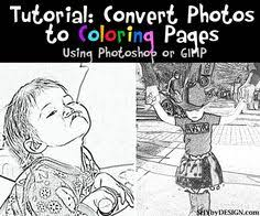 Small Picture Tutorial on how to change your favorite picture into a coloring