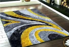 yellow gray area rug blue