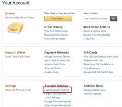 amazon account hacked login and security settings