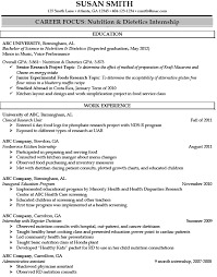 Registered Dietitian Resume Sample - http://jobresumesample.com ...