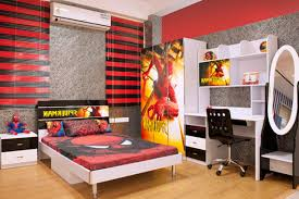 kids black bedroom furniture. Very Attractive Decorating Ideas For Kids Boy Bedrooms With F Spiderman Themes Bedroom Furniture Set And Cool Black Mixed Red Painting Walls E