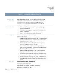 Construction Engineer Resume Fresh Project Engineer Resume Samples Tips and  Templates