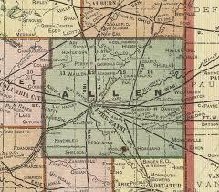 allen county, indiana, 1908 map, fort wayne Ft Wayne Indiana Map allen county, indiana, 1908 map, fort wayne, grabill, woodburn, harlan fort wayne indiana map