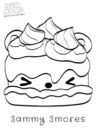 Value Num Nom Coloring Pages Free Printable Unk On Num Noms Coloring