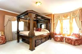 Scenic Bed Mirror Top Canopy Builders Model Home Furniture Fl White ...