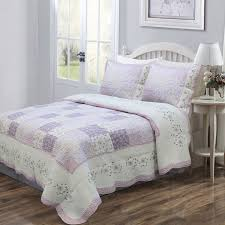 44 best Purple quilts images on Pinterest | Queen size, Brittany ... & Spring is in full bloom in this quilt set, fashioned from a patchwork of  lavender Adamdwight.com