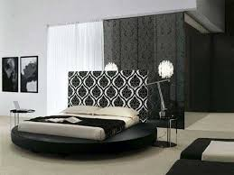 Bedroom:Artistic Damask Decor With Damask Headboard Of Round Bed Also  Monochrome Photographs Artistic Damask