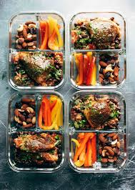 Weekly Lunch Prep Spicy Chicken Meal Prep With Rice And Beans Recipe Pinch