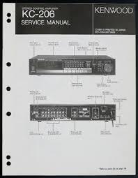 kenwood kc 206 original stereo amplifier service manual diagram image is loading kenwood kc 206 original stereo amplifier service manual