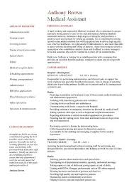 Medical Assistant Resume Samples Template Examples CV Cover Interesting Resume For Hospital Job