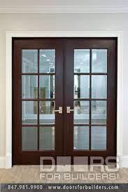 interior doors double clear glass door