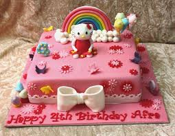 Hello Kitty Cake Design In Red Ribbon Birthdaycakeformomgq