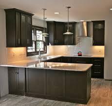 Kitchen With Dark Cabinets Grey Hardwood Floors Ideas Modern Kitchen Interior Design Dark