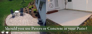 should i use patio pavers or concrete minneapolis mn