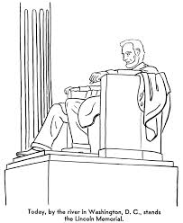 lincoln memorial day coloring page