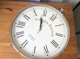 victoria station wall clock large double sided working in india