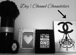 diy tumblr room decor chanel chandelier canvas pinterest