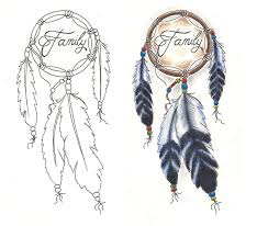 Dream Catcher Tattoo Stencils Freebies Tattoo Designs Dream Catcher Family by TattooSavage on 18