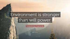 "Willpower Quotes Inspiration Paramahansa Yogananda Quote ""Environment Is Stronger Than Will"