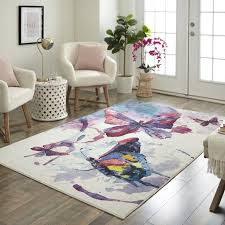 purple white rug zoomie kids engler watercolor erflies purplewhite area rug purple white rugby shirt