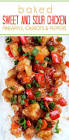 baked sweet and sour chicken with veggies