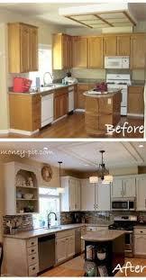 Modernizing An 80 S Oak Kitchen, Home Decor, Kitchen Backsplashes, Kitchen  Cabinets, Kitchen Design, Kitchen Islands, By Removing The Doors On The  Cabinet ...