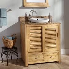 rustic pine bathroom vanities. Special Pine Bathroom Vanity Creating Rustic Room Impression : Black Table On Casual Floortile Beside Vanities M