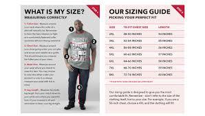 Big Tall Mens Size Guide Big Clothing 4 U