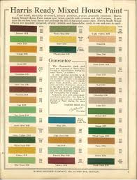 1915 Harris Ready Mixed House Paint Colours In 2019 House