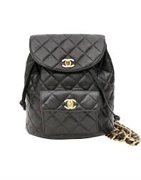Chanel Vintage Quilted Leather Backpack - Luxury Handbags UK ... & Chanel Vintage Quilted Leather Backpack Adamdwight.com