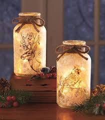 frosted glass mason jar light turns the classic jar into beautiful winter decor the warm beautiful classic mason jar