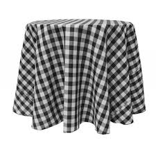 round black tablecloth