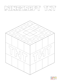 Small Picture Minecraft TNT coloring page Free Printable Coloring Pages