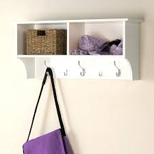 hat and coat rack with shelf shop racks stands at furniture white 5 hook  mounted . hat and coat rack ...