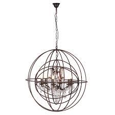 metal sphere glass crystal chandelier