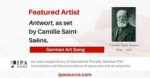 In this lesson you will learn about the german alphabet and phonetics. Ipa Source On Twitter German Art Song Antwort As Set By Camille Saint Saens Text Https T Co Hkeqyh0nup