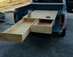 diy storage drawers in truck bed