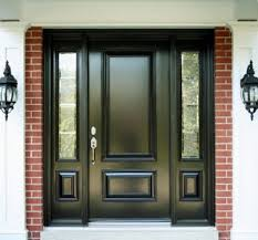 modern entry doors with sidelights. Modern Entry Doors For Home : Beautiful With Dark Mahogany Wood And Fiber Glass Sidelights S