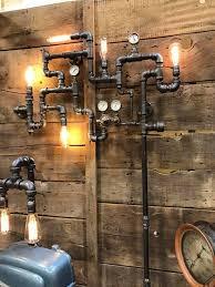 steampunk industrial pipe wall art