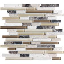 anatolia tile java linear mosaic stone and glass wall tile common 12 in