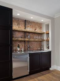 great home bar ideas. example of a mountain style single-wall dark wood floor wet bar design in new great home ideas