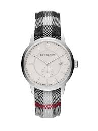 burberry bu10001 the classic round stainless steel watch for men gallery
