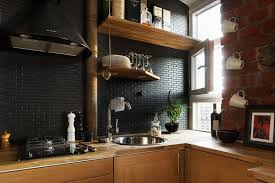 Contemporary Modern Kitchen Backsplash 2016 In Gallery Black Subway Tile A For Decor