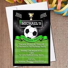 Soccer Party Invitations 10 Personalised Boys Football Pitch Soccer Birthday Party