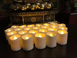 Flameless LED Tea Light Candles, Magicpro Battery-powered Unscented LED  Tealight Candles, Fake