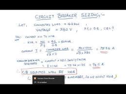 Circuit Breaker Selection